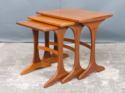 G PLAN 'FRESCO RANGE' TEAK NEST OF TABLES