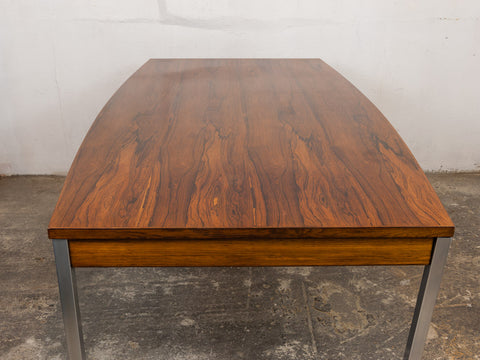 Vintage Rosewood and Chrome Dining Table/Desk