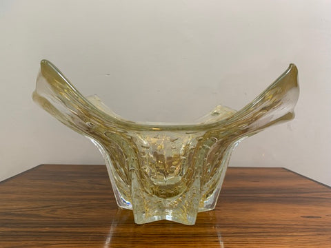 1950s Murano Glass 24 Carat Bowl