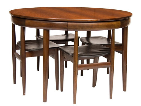 Rosewood 'Roundette' 1960's Danish Dining Set by Hans Olsen for Frem Rojle