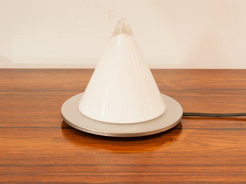 1970s German Peill Putzler Blown Glass Conical Table Lamp