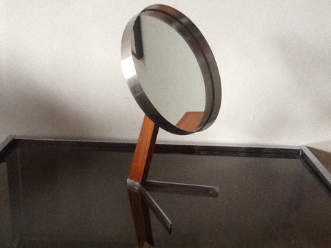 1960's Durlston Designs Teak and Steel Mirror