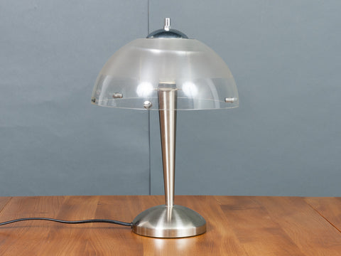 1970s Meblo iGuzzini Brushed Chrome Table Lamp