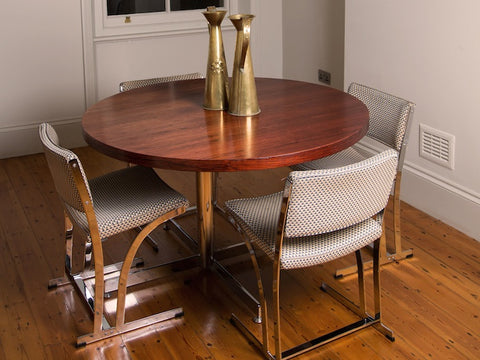 1960s Merrow Associates Dining Table & 4 Chairs