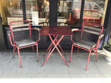 Vintage Belgian Vedett Beer Table and Four Chairs