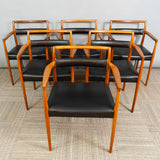 Pair of OD70 Kai Kristiansen Carver Dining Chairs for Oddense Maskinsnedkeri