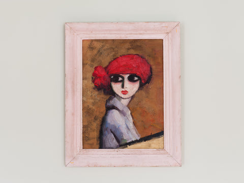 Picture of a Young Girl in a Red Hat