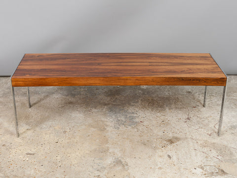 1970s Merrow Associates Rosewood and Chrome Coffee Table