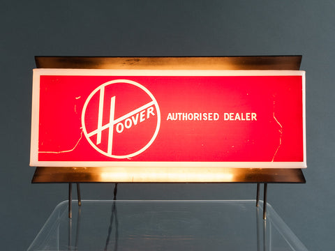 Vintage Hoover Illuminated Display Sign