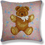Vintage Cushions - Moon Palace Bear