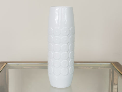 1960's German Hutschenreuther Op Art Glazed Vase