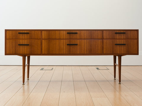 1950s Leonard Harris Walnut Sideboard