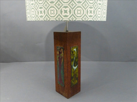 Arts & Crafts Oak Lamp base