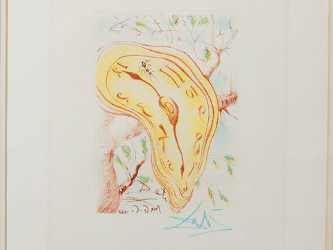 Salvador Dali Melting Clock 1968 Etching
