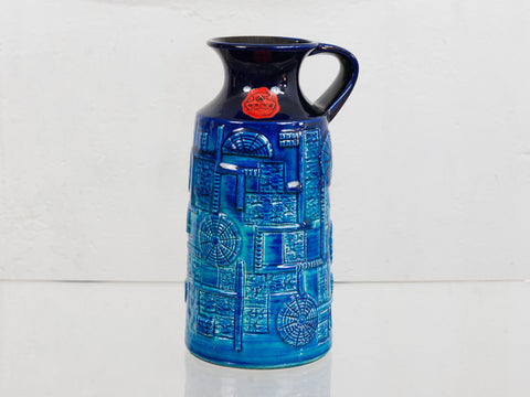1970's Blue Bay Keramik West German Pottery Vase