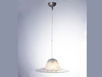 1970s German Peill & Putzler Mottled Glass Pendant Light