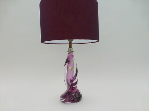 Val St Lambert Purple Lamp Base
