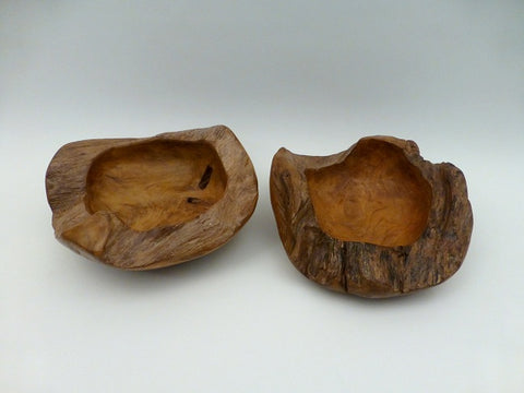 Solid Teak Handmade Root Bowl
