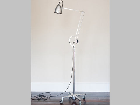 1950s Hadrill and Horstmann Chrome Counterpoise Floor Lamp