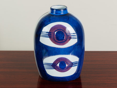 1960's Royal Copenhagen Aluminia Series Eye Vase