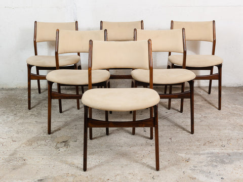 1960s Erik Buck Model #310 Danish 6 x Dining Chairs