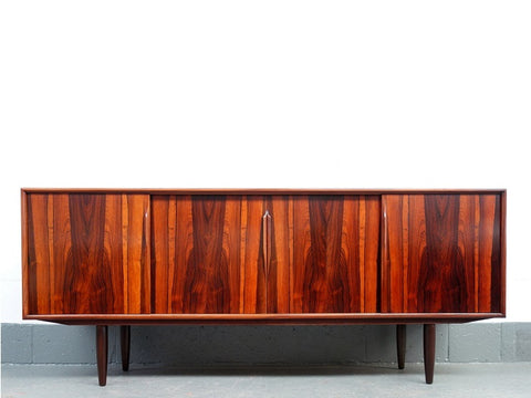 1960's Brazilian Rosewood Sideboard by Gunni Omann for Axel Christensen Odder