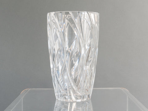Vintage French Clear Glass Vase