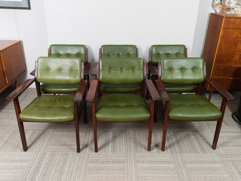 DANISH 1960's ARNE VODDER ARMCHAIRS FOR SIBAST MOBLER