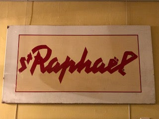 Large 1960's original enamel advertising sign for St. Raphael Aperitief
