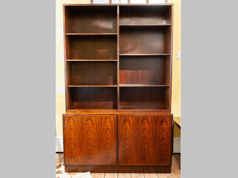 1960s Danish Omann Jun Rosewood Shelving Unit and Storage Cabinet.  Model No.4
