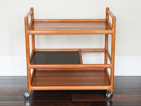 1960'S DANISH TEAK JOHANNES ANDERSEN DRINKS TROLLEY