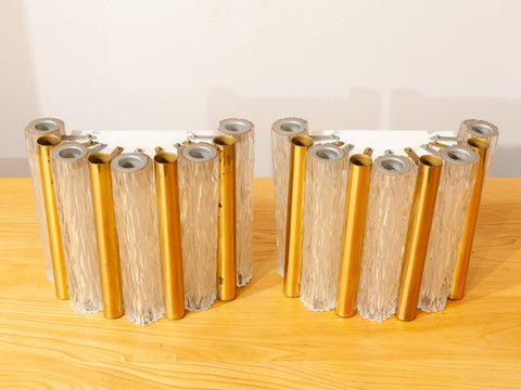 1950s Kaiser Leuchten Tubular Wall Lights