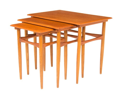 Set of 3 1960's Danish Nesting Tables by Poul Hundevad for Fabian