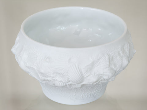 1970'S A.K. Kaiser White Bisque 3-D Shell Bowl