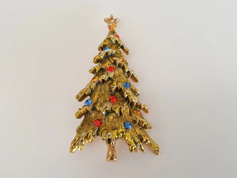 1950s ART Christmas Tree Brooch