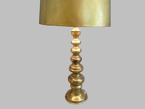 Pair 1950's Solid Brass Stiffel Table Lamps
