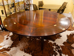 1960s Danish Dyrlund Rosewood Flip-Flap Extendable Lotus Dining Table
