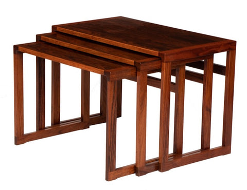 Set of 3 Danish Rosewood Nesting Tables by Vildbjerg Mobelfabrik