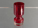 Swedish Alsterfors Red Art Glass Vase by Per Olof Strom