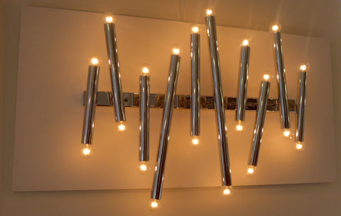 1970s Sciolari Chrome Tubular Wall Sconce