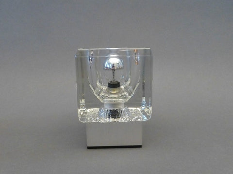 Pair of Peill & Putzler Glass Cube Table Lamps