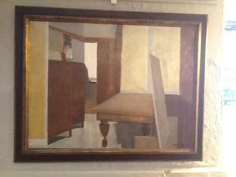 'Claude Lyr' Oil on Canvas - Interieur, 1989.