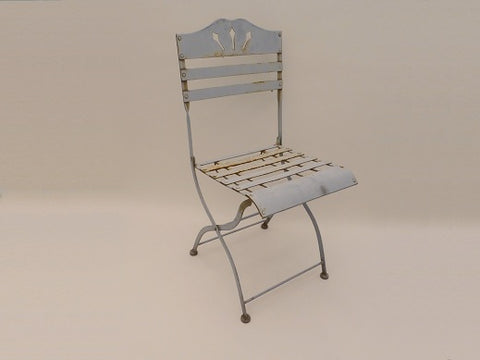 Vintage Pale Blue Garden Chairs