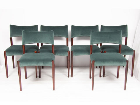Set of Six 1960's Danish Rosewood Dining Chairs by Aksel Bender Madsen