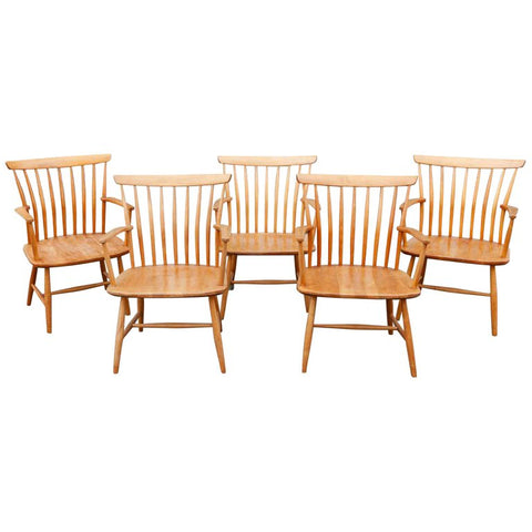 Five 1950's Swedish Bentwood Armchairs by Bengt Akerblom for Akerblom