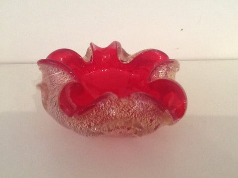 1960's Barovier & Toso Murano Glass Ashtray
