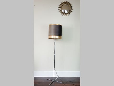1960's German Vintage Adjustable Chrome Floor Lamp