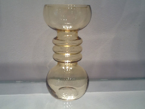 1960's Riihimaki of Finland Yellow Glass Vase