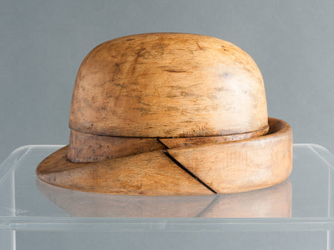 Vintage Industrial Wooden Hat Block