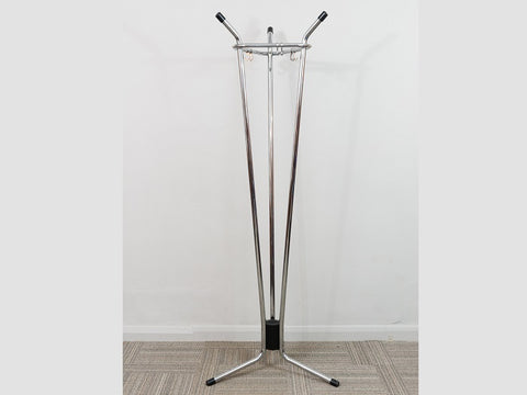 1960's Belgian Triangular Chrome Coat Stand by Tubax